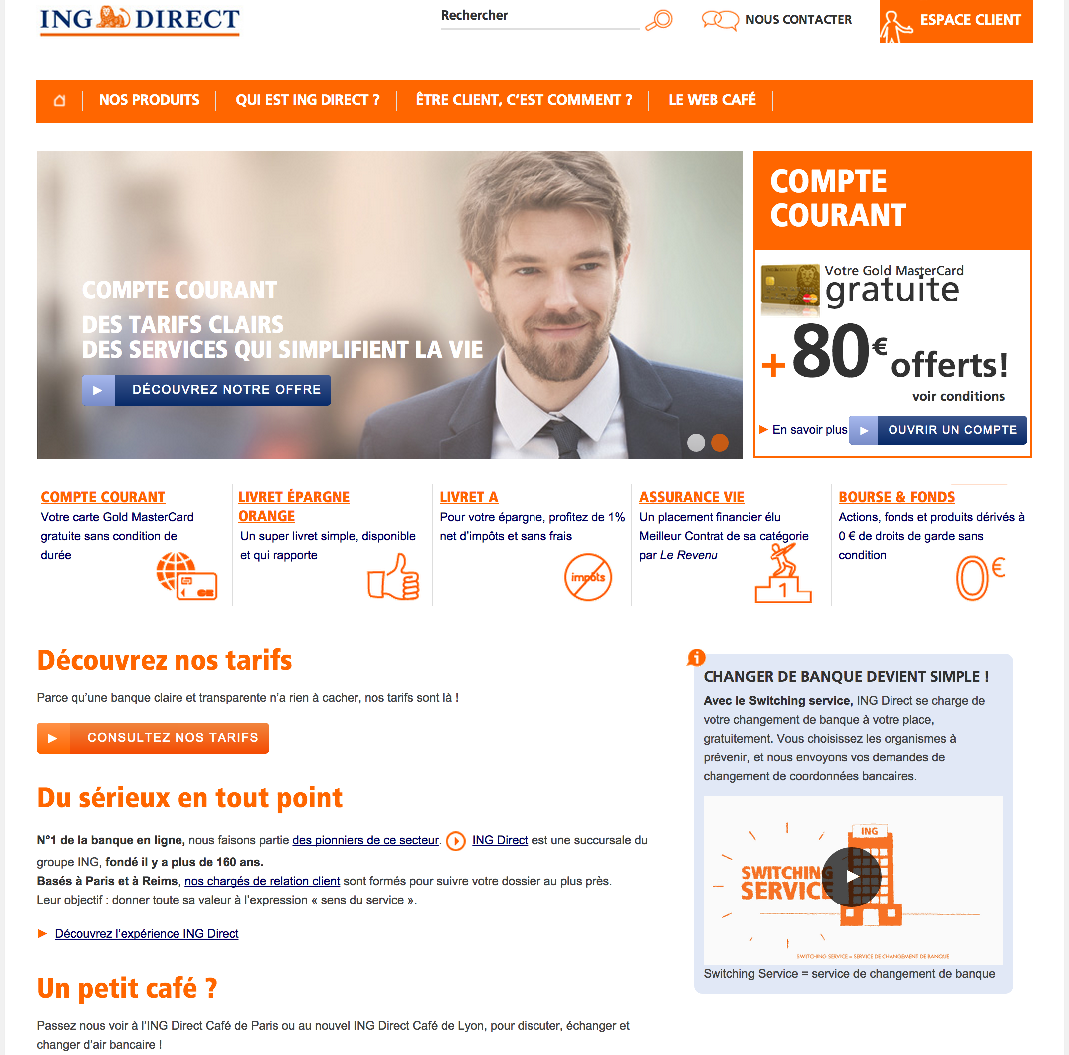ING Direct homepage