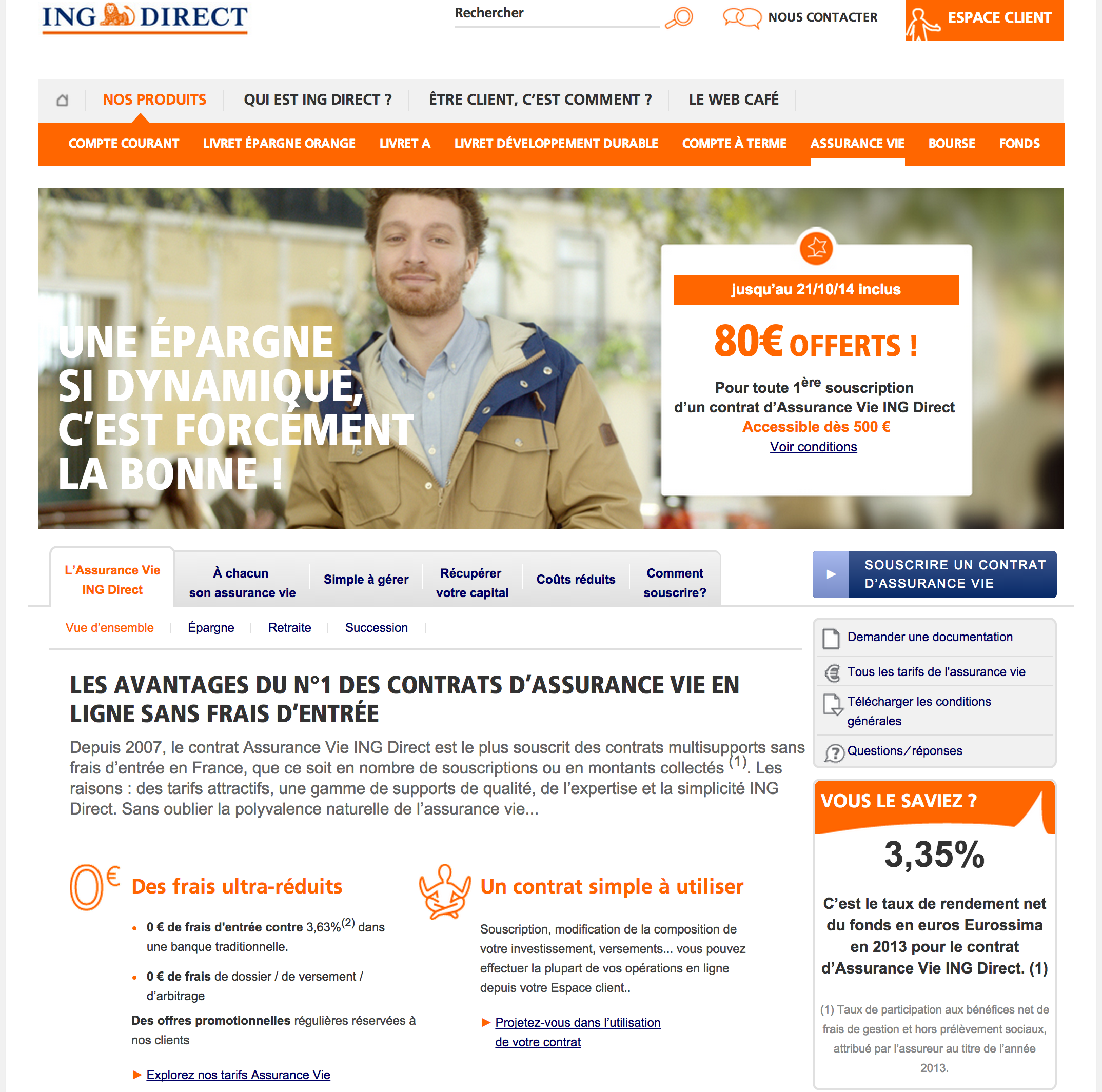 ING Direct product page